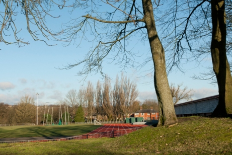 400m running track, Leverhulme Park Community and Leisure Centre